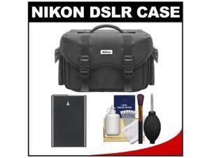 Nikon 5874 Digital SLR Camera Case - Gadget Bag with EN-EL14 Battery + Cleaning Kit