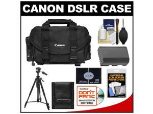 Canon 2400 Digital SLR Camera Case - Gadget Bag with LP-E6 Battery + Tripod + Accessory Kit
