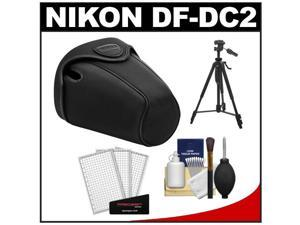 Nikon CF-DC2 Semi-Soft Holster Digital SLR Camera Case for D3200, D5100, D5200, D5300 with Tripod + Cleaning Accessory Kit
