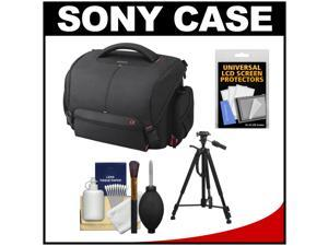 Sony LCS-SC21 Soft Digital SLR Camera Carrying Case with Tripod + Cleaning Kit