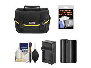 Nikon Starter Digital SLR Camera Case - Gadget Bag with EN-EL15 Battery + Charger + Accessory Kit for D7000, D7100