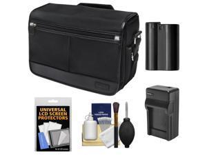 Nikon DSLR Camera/Tablet Messenger Shoulder Bag with EN-EL15 Battery & Charger + Kit for D7000, D7100, D600, D610, D800