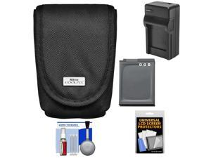 Nikon Coolpix 5879 Digital Camera Case with EN-EL12 Battery + Charger + Kit for AW110, AW120, P340, S31, S800C, S9500, S9700
