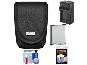 Nikon Coolpix 5879 Digital Camera Case with EN-EL19 Battery + Charger + Kit for S32, S3500, S4300, S5200, S5300, S6500, S6800