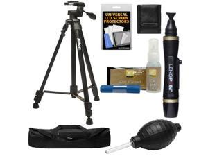 "Nikon 60"" Full Size Tripod with 3-Way Panhead (Black) with Nikon Camera and Lens Cleaning Kit + Accessory Kit"