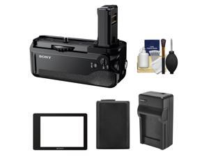 Sony VG-C1EM Vertical Battery Grip for Alpha A7, A7R & A7S Camera with PCK-LM16 Semi-Hard LCD Screen Protector + Battery & Charger Kit