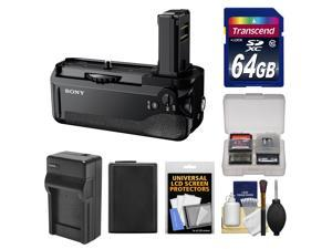 Sony VG-C1EM Vertical Battery Grip for Alpha A7, A7R & A7S Camera with 64GB Card + Battery + Charger + Accessory Kit