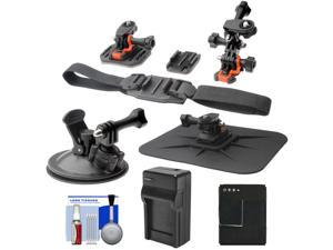 Essentials Bundle for GoPro HD HERO 3 Action Camcorder with Helmet, Flat Surface & Car Mounts + Battery + Charger + Accessory Kit