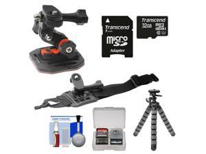 Essentials Bundle for Replay XD 1080 Mini Action Video Camera Camcorder with Curved Helmet & Arm Mounts + 32GB Card + Flex Tripod + Kit