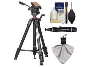 """Sunpak 65"""" Pro M4 Heavy Duty Video Tripod with Fluid Head & Case with Lenspen + Cleaning Kit"""