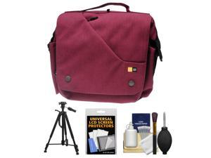 Case Logic Reflexion Digital SLR Camera & Tablet Messenger Bag (Pomegranate) with Tripod + Accessory Kit