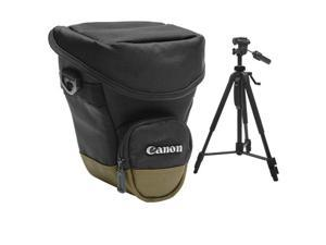 "Canon Zoom Pack 1000 Digital SLR Camera Holster Case with 58"" Photo/Video Tripod"
