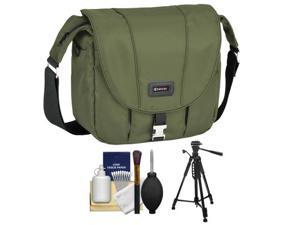 Tamrac 5423 Aria 3 Messenger Photo Digital SLR Camera Case / Bag (Moss Green) with Tripod + Accessory Kit