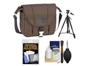 Tamrac 5421 Aria 1 Compact / ILC Camera Shoulder Bag (Brown) with Tripod + Cleaning Kit