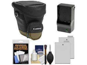 Canon Zoom Pack 1000 Digital SLR Camera Holster Case with (2) LP-E8 Batteries + Charger + Accessory Kit