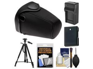 Nikon CF-DC2 Semi-Soft Holster Digital SLR Camera Case for D3200, D5100, D5200, D5300 with EN-EL14 Battery & Charger + Tripod + Accessory Kit