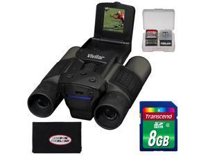 Vivitar 12x25 Binoculars with Built-in Digital Camera with 8GB Card + Accessory Kit