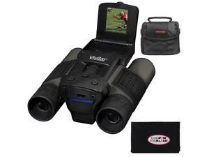 Vivitar 12x25 Binoculars with Built-in Digital Camera with Case + Cleaning Cloth