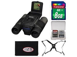Vivitar 12x25 Binoculars with Built-in Digital Camera with 8GB Card + Harness + Accessory Kit