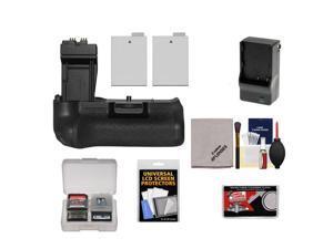 Zeikos BG-E8 Battery Grip for Canon EOS Rebel T2i, T3i, T4i & T5i Digital SLR Camera with (2) LP-E8 Batteries + Charger + Accessory Kit