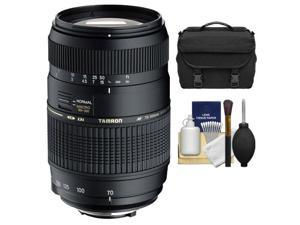 Tamron AF 70-300mm F/4-5.6 Di LD Macro Lens + Case + Accessory Kit for Nikon D3200, D3300, D5200, D5300, D7000, D7100 Digital SLR Cameras