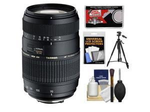 Tamron 70-300mm f/4-5.6 Di LD Macro 1:2 Zoom Lens (BIM) (for Nikon Cameras) with Tripod + Accessory Kit