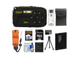 Coleman Xtreme C5WP Shock & Waterproof Digital Camera (Black) with 8GB Card + Battery + Floating Strap + Case + Accessory Kit