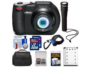SeaLife DC1400 14MP HD Underwater Digital Camera with (2) 32GB Cards + Battery & Charger + Case + LED Torch + Accessory Kit