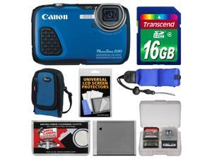 Canon PowerShot D30 Shock & Waterproof GPS Digital Camera with 16GB Card + Case + Battery + Float Strap + Accessory Kit
