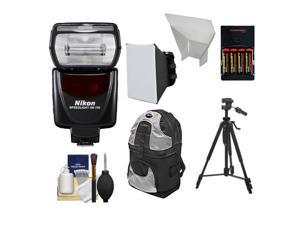 Nikon SB-700 AF Speedlight Flash with Tripod + Softbox + Bounce Reflector + Batteries & Charger + Backpack + Cleaning Kit