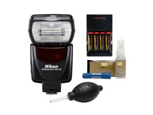 Nikon SB-700 AF Speedlight Flash with (4) Batteries & Charger + Nikon Cleaning Kit
