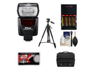 Nikon SB-700 AF Speedlight Flash with Case + Tripod + (4) Batteries & Charger + Cleaning Kit