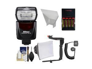 Nikon SB-700 AF Speedlight Flash with Bracket + Shoe Cord + Softbox + Bounce Reflector + Batteries & Charger + Cleaning Kit