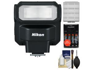 Nikon SB-300 AF Speedlight Flash with Batteries & Charger + Cleaning & Accessory Kit
