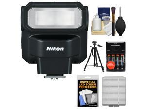 Nikon SB-300 AF Speedlight Flash with Batteries & Charger + Tripod + Cleaning & Accessory Kit