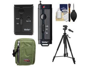 Vivitar Universal Wireless and Wired Shutter Release Remote Control with Travel Case + Tripod + Accessory Kit for Sony Alpha Digital SLR Cameras