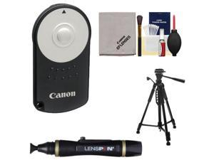 Canon RC-6 Wireless Remote Shutter Release Controller for Rebel SL1, T3i, T4i, T5i, EOS 60D, 70D, 6D, 7D, 5D Mark III with Tripod + Kit