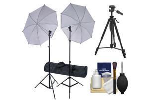 RPS Studio Deluxe Wireless Speedlite Studio Kit 2 Umbrellas, 2 Stands, 4-Channel Wireless Transmitter, 2 Receivers, Case + Tripod Kit