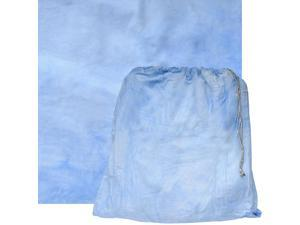 RPS Studio 10x10 Grab-It Muslin Painted Background with Pouch (Pacific Blue Wave)