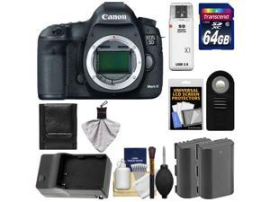Canon EOS 5D Mark III Digital SLR Camera Body with 64GB Card + 2 Batteries + Charger + Remote + Accessory Kit