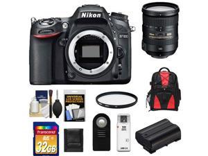 Nikon D7100 Digital SLR Camera Body with 18-200mm VR Lens + 32GB Card + Backpack + Battery + Filter + Accessory Kit