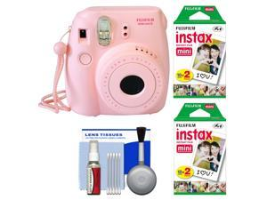 Fujifilm Instax Mini 8 Instant Film Camera (Pink) with 40 Instant Film + Cleaning Kit