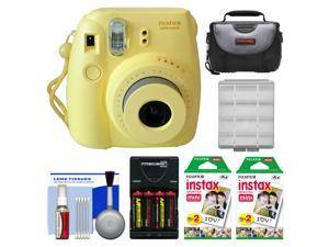 Fujifilm Instax Mini 8 Instant Film Camera (Yellow) with 40 Instant Film + Case + Batteries & Charger + Kit