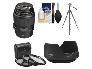 Canon EF 100mm f/2.8 Macro USM Lens with 3 UV/CPL/ND8 Filters + Hood + Macro Tripod + Kit for EOS 6D, 70D, 5D Mark II III, Rebel T3, T3i, T4i, T5, T5i, SL1 DSLR Cameras