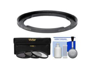 Bower FA-DC67A Adapter Ring for Canon PowerShot SX50, SX520, SX530 & SX60 HS Camera (67mm) with 3 (UV/CPL/ND8) Filters + Cleaning Kit