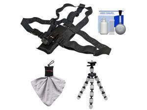 Essentials Bundle for ContourROAM, ContourROAM 2 & Contour+ 2 Action Camcorders with Chest Mount + Flex Tripod + Accessory Kit