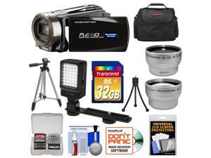 Bell & Howell DNV16HDZ 1080p HD Video Camera Camcorder with Infrared Night Vision (Black) with 32GB Card + Case + Tripod + Video Light + Wide Angle/Telephoto Lenses + Accessory Kit