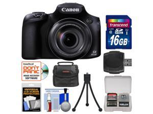 Canon PowerShot SX60 HS Wi-Fi Digital Camera with 16GB Card + Case + Flex Tripod + Accessory Kit