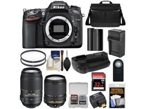 Nikon D7100 Digital SLR Camera with 18-140mm & 55-300mm VR Lenses, WU-1a, Bag & 32GB Card + Battery & Charger + MB-D15 Grip + Filters + Remote + Accessory Kit