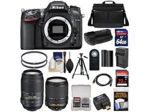 Nikon D7100 Digital SLR Camera with 18-140mm & 55-300mm VR Lenses, WU-1a, Bag & 32GB Card + 64GB Card + Battery & Charger + Grip + Filters + Remote + Tripod + Kit
